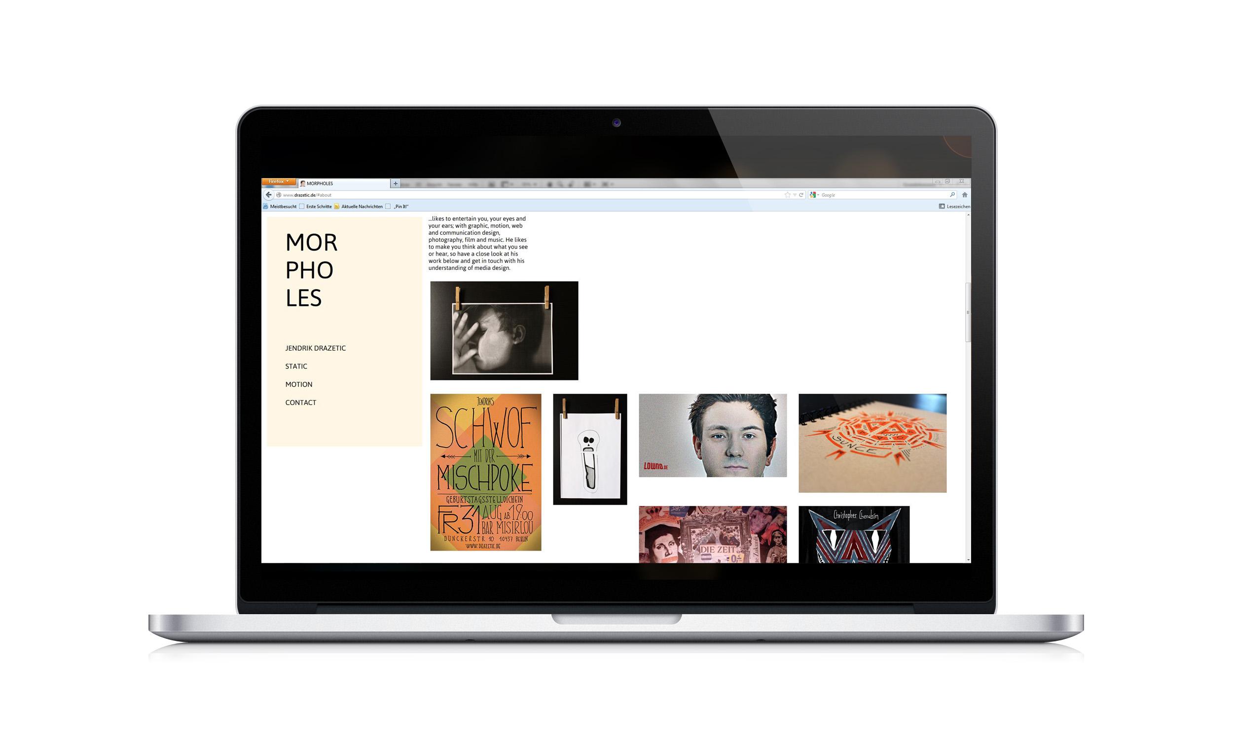 Morpholes Webseite